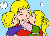 Игра Онлайн раскраска: Лучшая Мама
