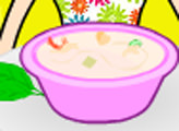 Игра Кухня Кайри: суп с креветками