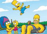 Игра Симпсоны - плиточный пазл