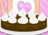 Игра Вкусные рецепты Дженни: шоколадно-арахисовое пирожное