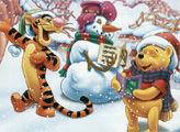 Игра Рождественская история Пуха - плиточный пазл