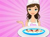 Игра Вкусные рецепты Дженни: итальянский салат с лапшой