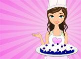 Игра Вкусные рецепты Дженни: синий бархатный торт