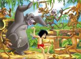 Игра Танец в джунглях - плиточный пазл