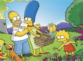 Игра Симпсоны на каникулах - плиточный пазл