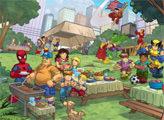 Игра Диета для супергероев - плиточный пазл