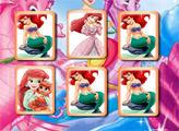 Игра Принцесса Ариэль: Открываем пары