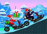 Игра Санта на снегоходе