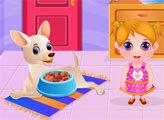 Игра Малышка Хлоэ ухаживает за щенками