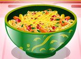 Игра Кулинарный мастер: Салат с макаронами и перцем