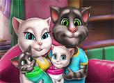 Игра Семейный день Анжелы и близнецов