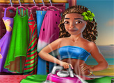 Игра Экзотическая девушка стирает