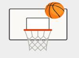Игра Баскетбол - серия бросков