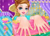 Игра Маникюр ледяной принцессы