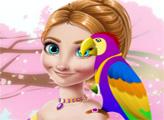 Игра Ледяная принцесса и милый попугай
