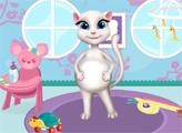 Игра Декор комнаты с беременной Китти