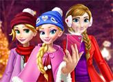 Игра Рождественский шоппинг принцесс для селфи