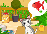 Игра Милый голодный кот