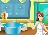 Игра Виолетта готовит для Леона