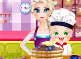 Игра Эльза и Роза готовят блинчики
