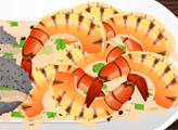 Игра Жареные креветки с лаймом и кинзой