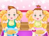 Игра Украшение комнаты близнецов