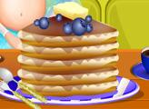 Игра Беременная Эльза готовит блинчики