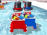 Игра Рождественские гонки снеговиков