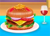 Игра Американский рецепт сырного бургера