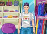 Игра Даниэль в магазине одежды