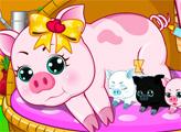 Игра Беременная свинка рожает