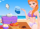 Игра Магия Эльзы и мороженое
