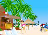 Игра День на пляже - найди цифры