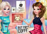 Игра Модные принцессы и кофе