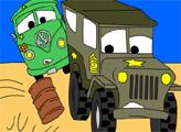 Игра Тачки - Раскраска: Погоня
