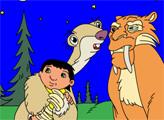 Игра Раскраска - Ледниковый период: Малыш
