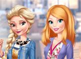 Игра Эльза и Барби: свидание в слепую