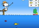 Игра Снупи на рыбалке
