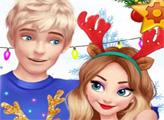 Игра Волшебное Рождество Эльзы и Джека