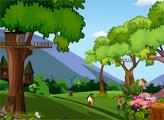 Игра Побег девушки из дома на дереве