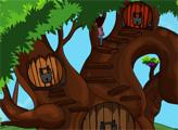 Игра Побег с помощью большого дерева