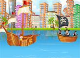 Игра Спаси корабль от пиратов