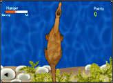 Игра Динозавр на рыбалке