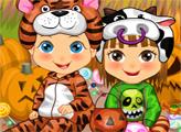 Игра Наряды близнецов для Хэллоуина