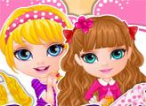 Игра Малышка Барби: Сестры наряжаются