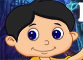 Игра Спаси милого мальчика из лесного дома