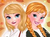 Игра Осенние тренды для Эльзы и Анны