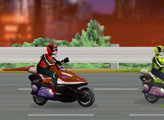 Игра Power Rangers Moto Race