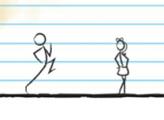 Игра Стикмен бежит в школу