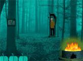 Игра Побег связанной девушки в Хэллоуин